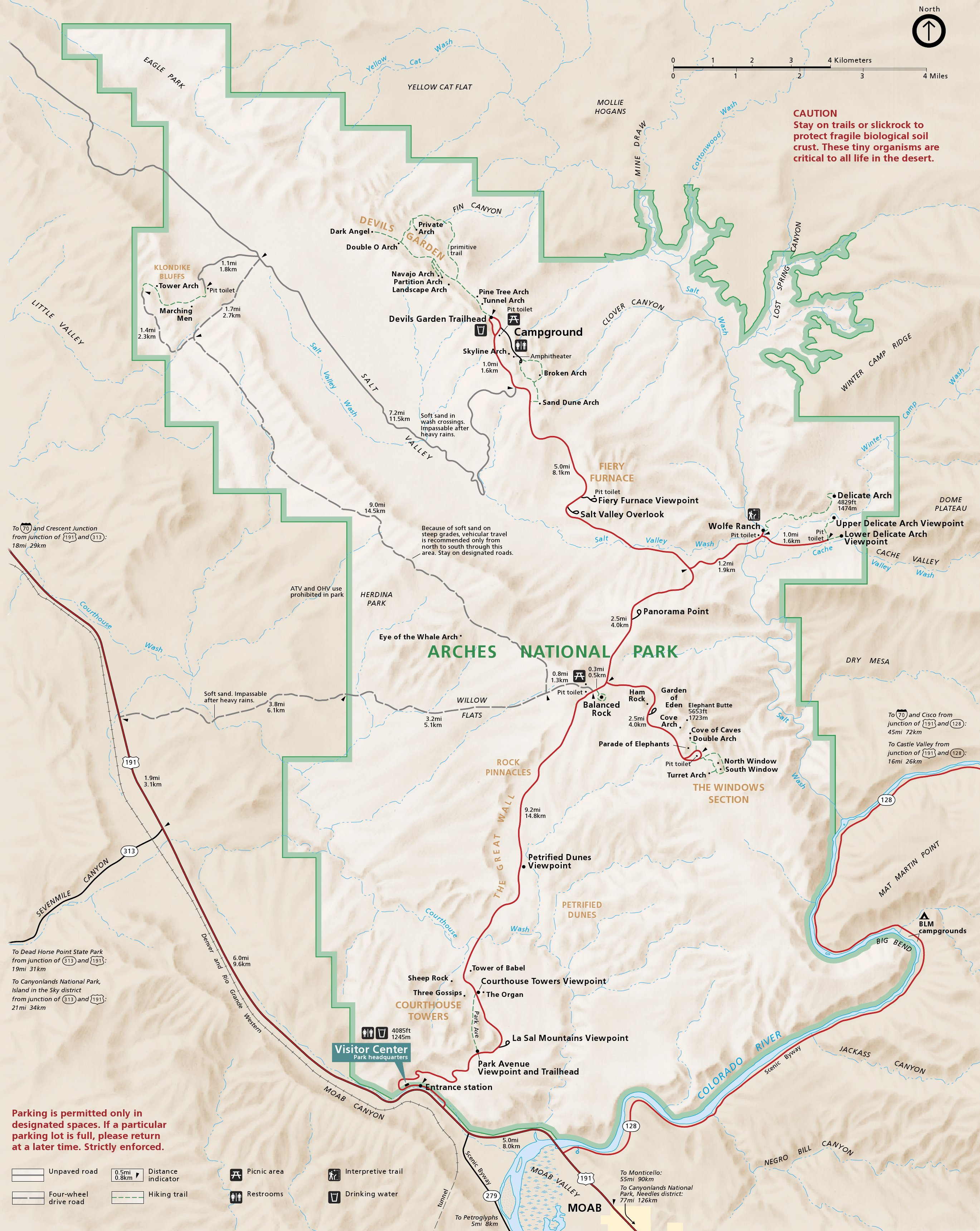 Arches National Park Map Arches Maps | NPMaps.  just free maps, period. Arches National Park Map