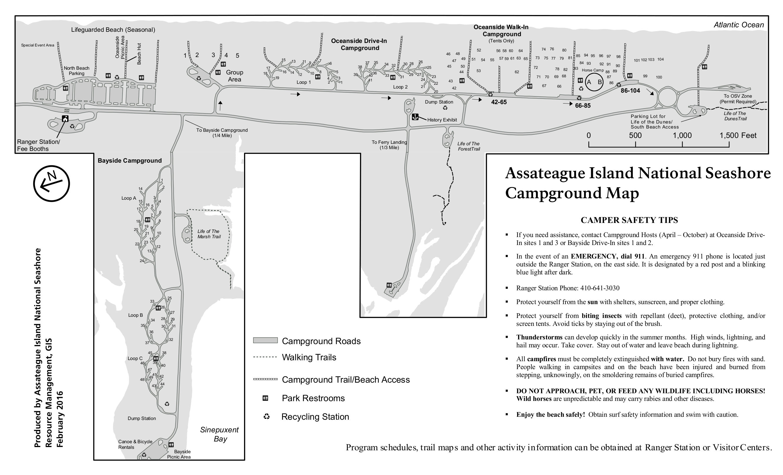 Assateague Island Camping Map Assateague Island Maps | NPMaps.  just free maps, period.