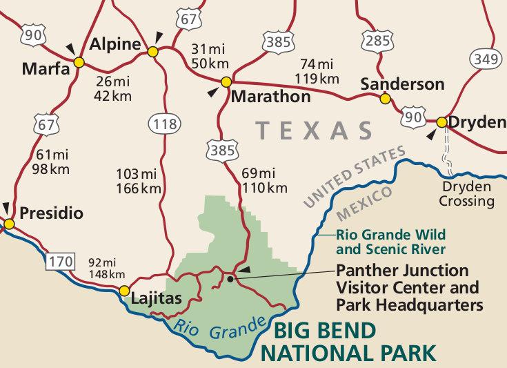 Big Bend National Park Map Big Bend Maps   NPMaps.  just free maps, period. Big Bend National Park Map
