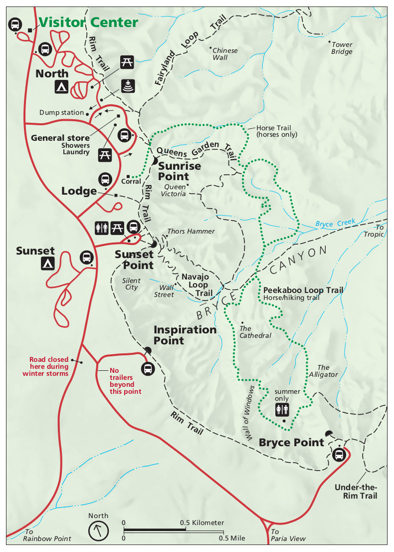 Bryce National Park Map Bryce Canyon Maps | NPMaps.  just free maps, period.