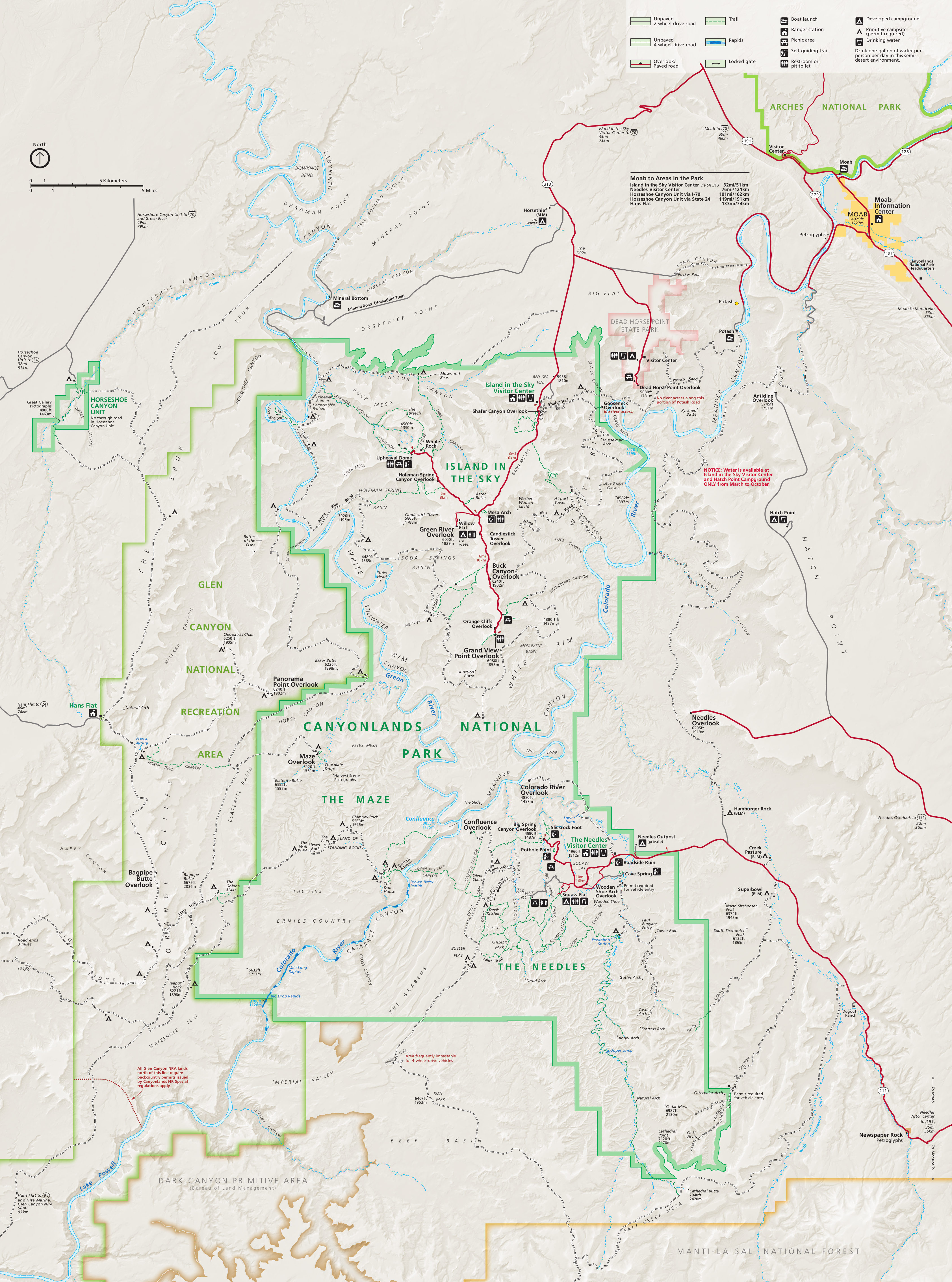 Canyonlands National Park Map Canyonlands Maps | NPMaps.  just free maps, period. Canyonlands National Park Map
