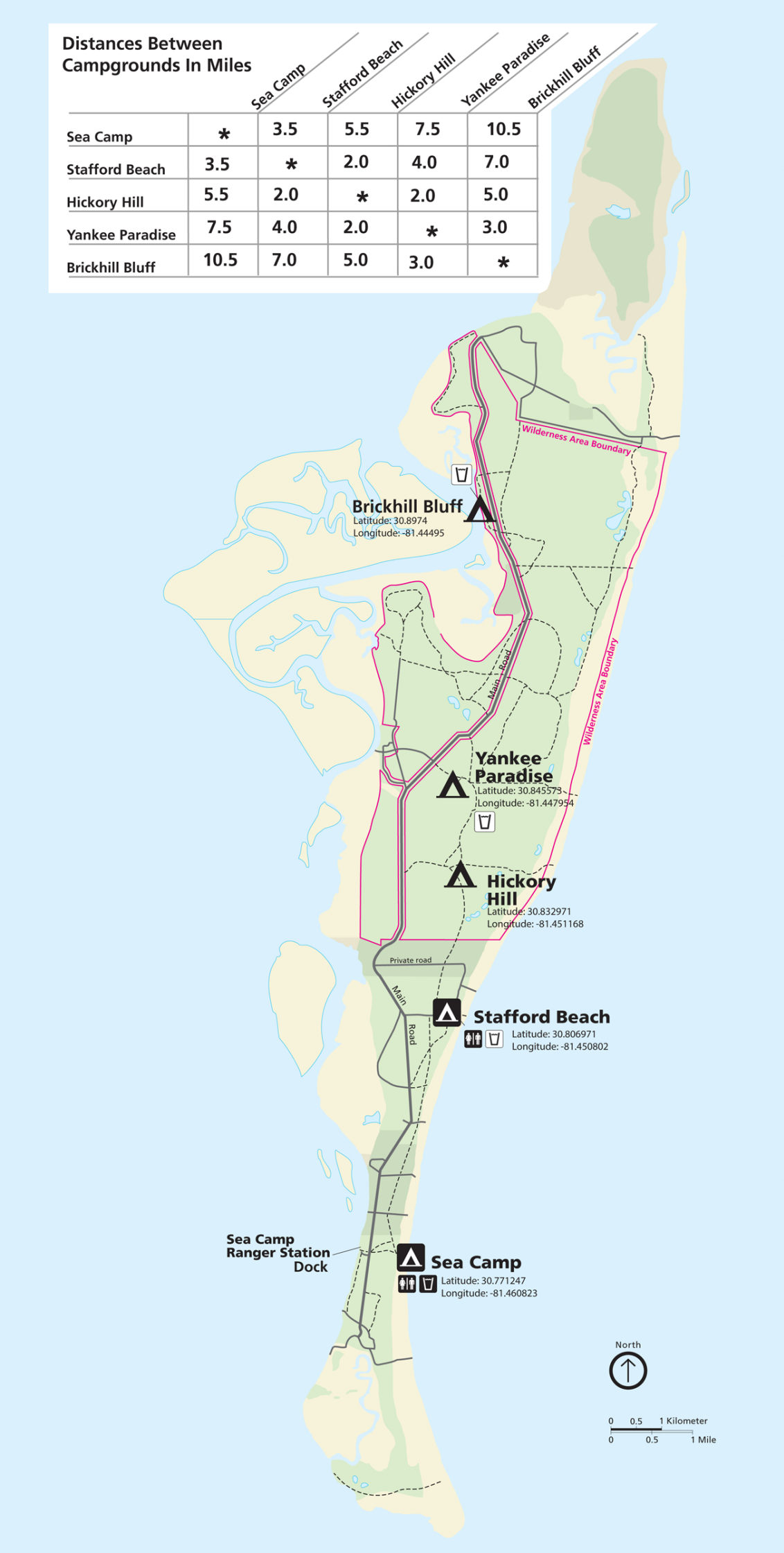 Map Cumberland Island Cumberland Island Maps | NPMaps.  just free maps, period.