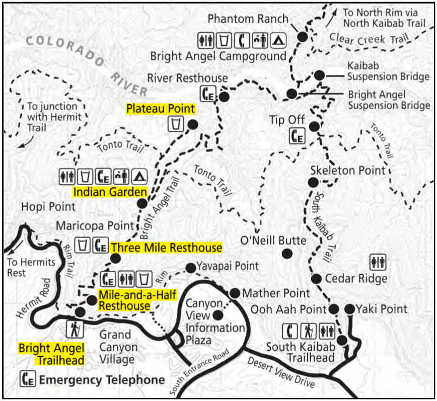 Grand Canyon Hiking Map Grand Canyon Maps | NPMaps.  just free maps, period. Grand Canyon Hiking Map