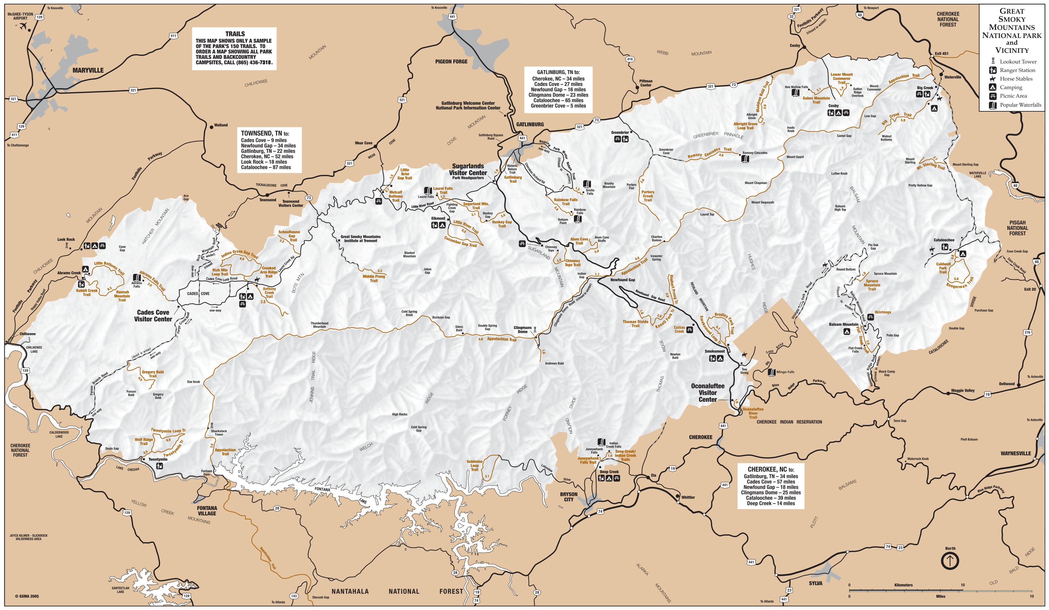 Smoky Mountain National Park Map Great Smoky Mountains Maps | NPMaps.  just free maps, period. Smoky Mountain National Park Map