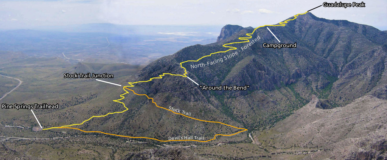 Guadalupe Mountains National Park Map Guadalupe Mountains Maps | NPMaps.  just free maps, period.