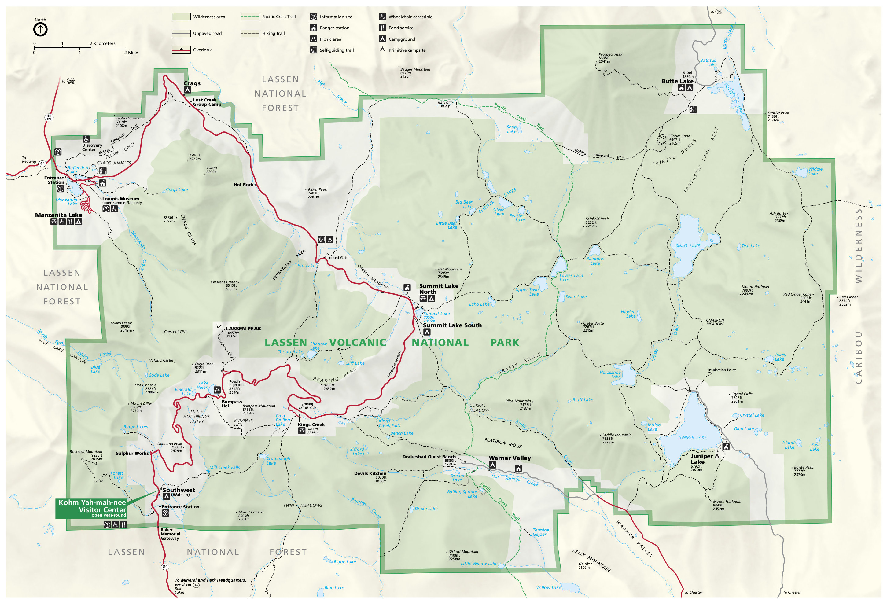 Lassen Volcanic Maps Just Free Period Atlas Wiring Book Pdf National Park Map