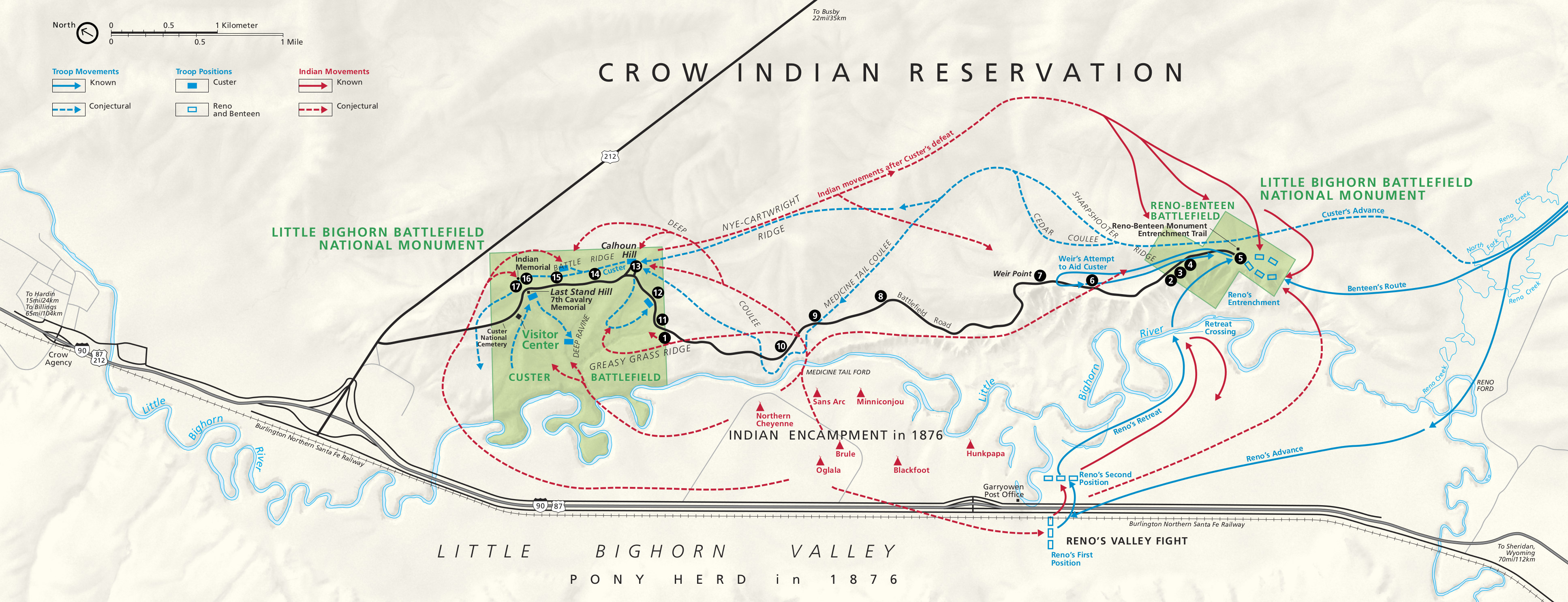 Little Bighorn Map Little Bighorn Maps | NPMaps.  just free maps, period.
