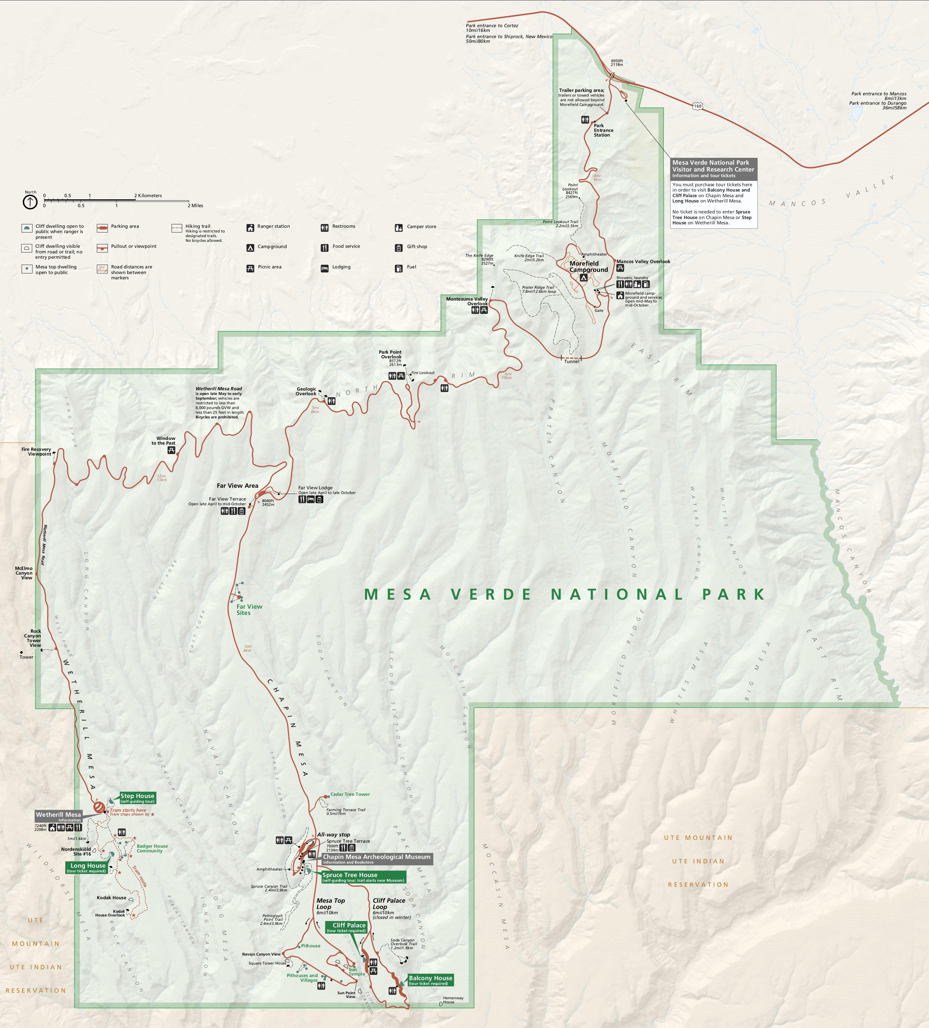 Mesa Verde National Park Map Mesa Verde Maps | NPMaps.  just free maps, period.