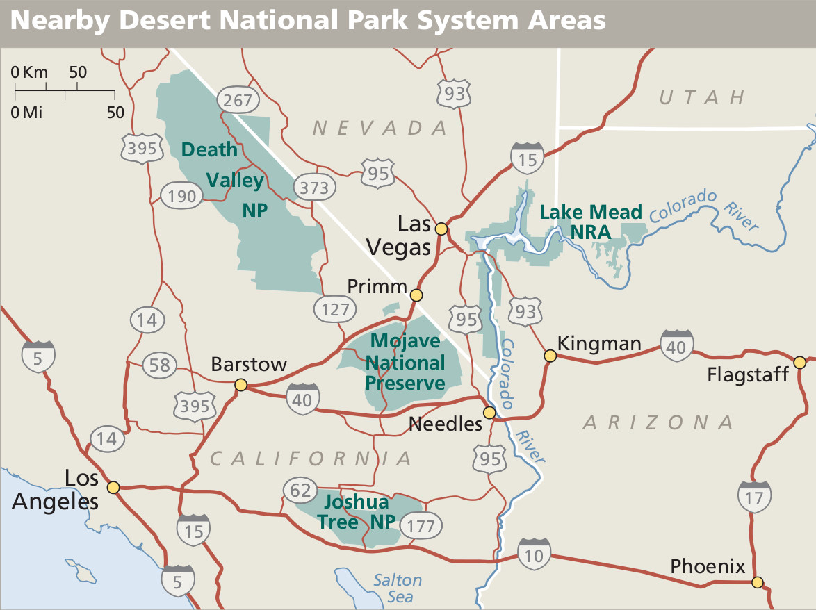Map Of Mojave Desert Mojave Maps | NPMaps.  just free maps, period.