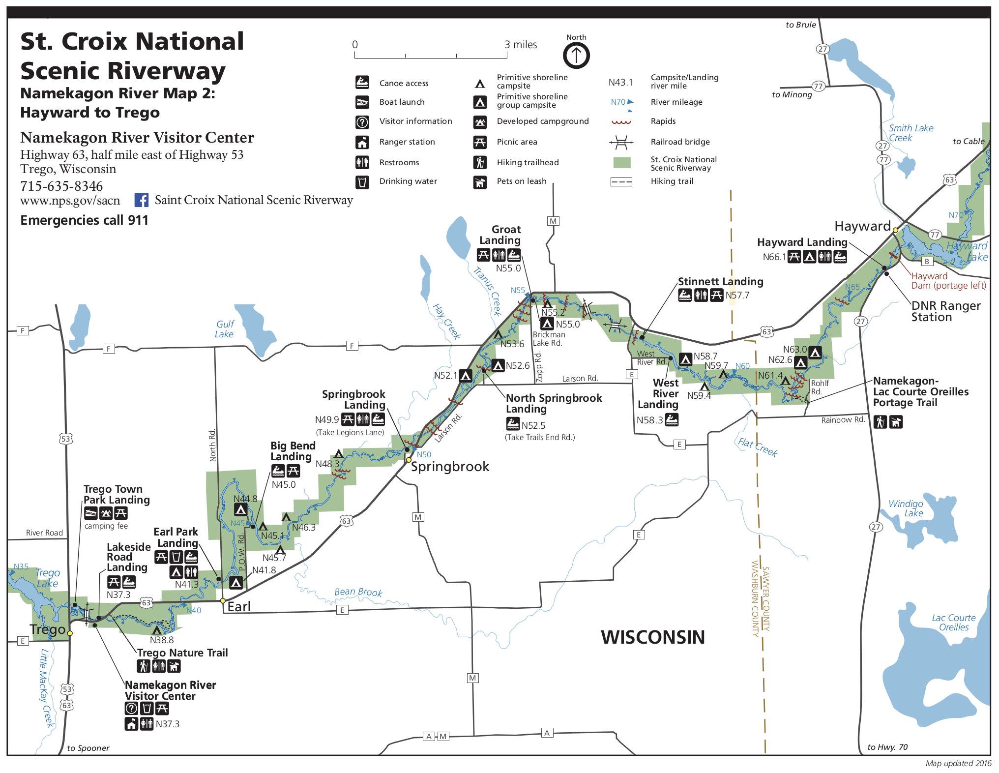 Namekagon River Map Saint Croix Maps | NPMaps.  just free maps, period.