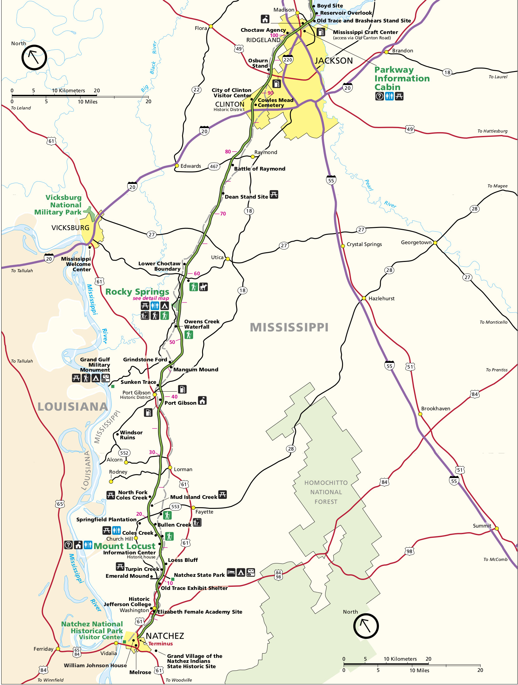 Natchez Trace Map Natchez Trace | NPMaps.  just free maps, period. Natchez Trace Map