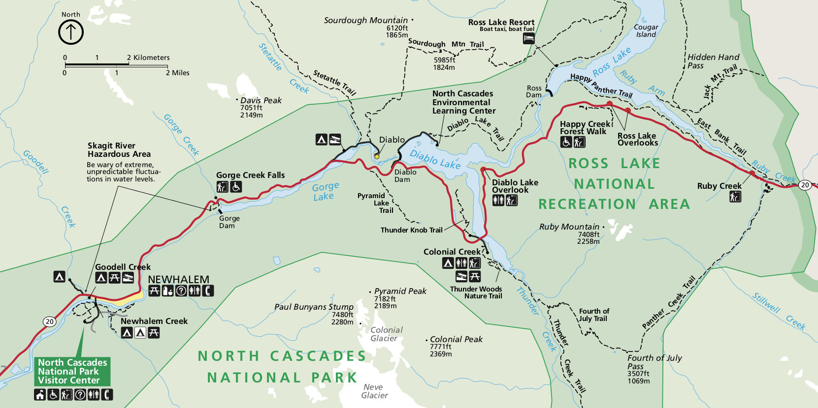 North Cascades National Park Map North Cascades Maps | NPMaps.  just free maps, period.