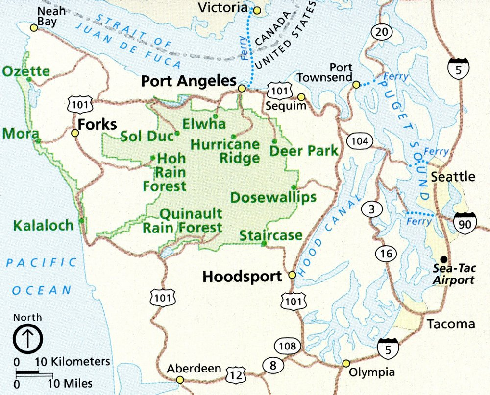 Olympic National Park Map Olympic Maps | NPMaps.  just free maps, period. Olympic National Park Map