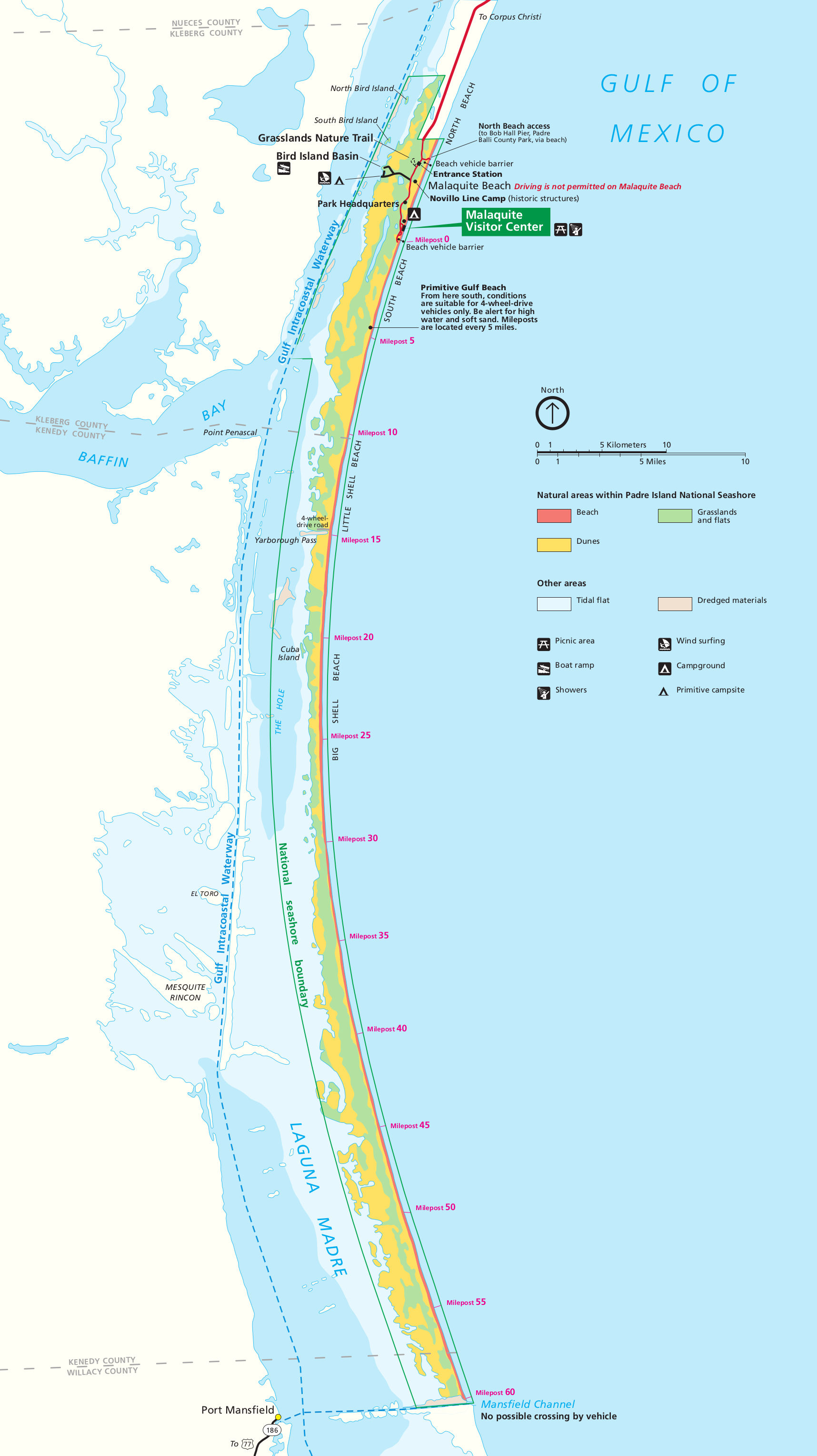 Map Of North Padre Island Texas Padre Island Maps | NPMaps.  just free maps, period.