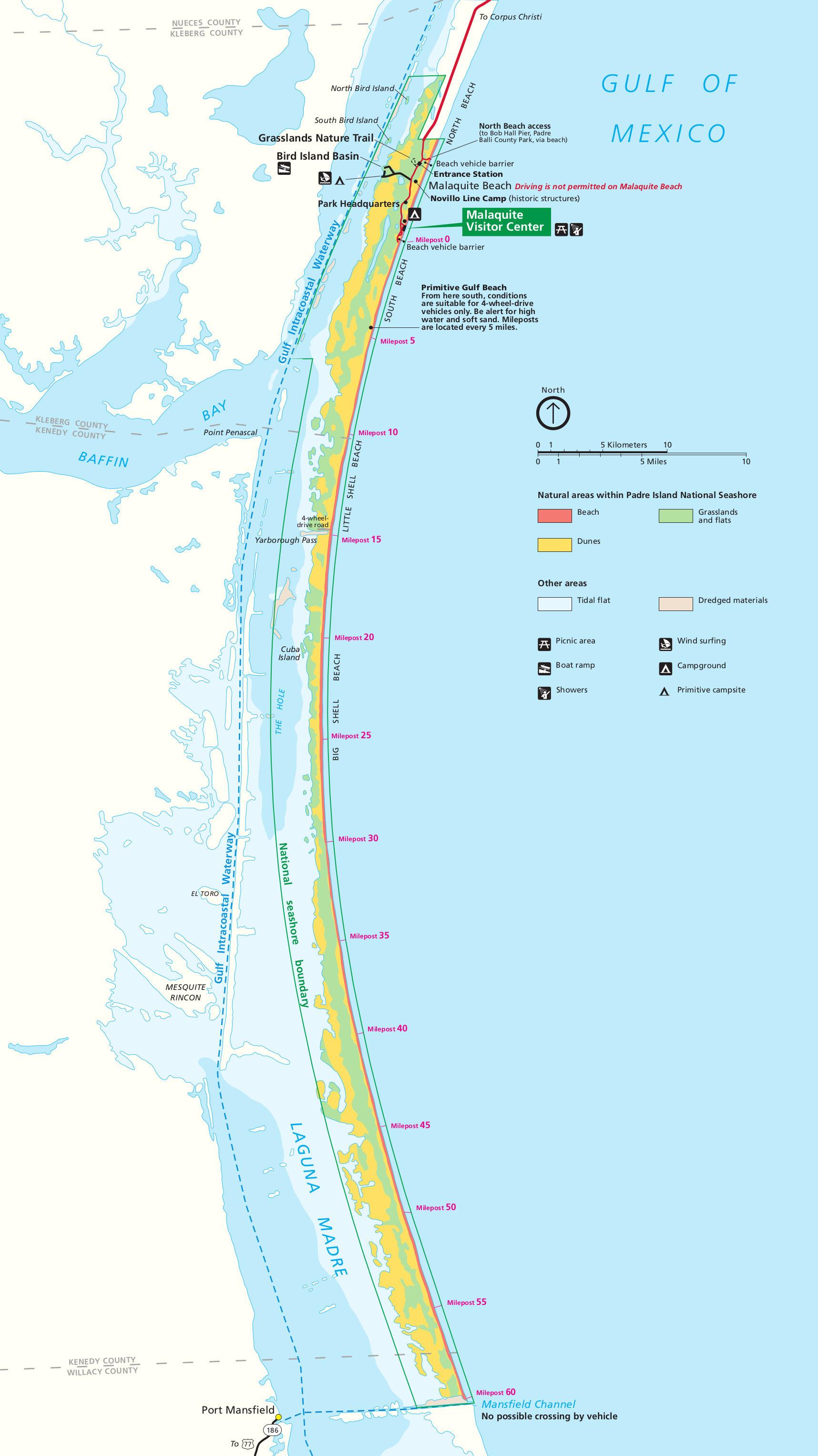 Padre Island Map Padre Island Maps | NPMaps.  just free maps, period. Padre Island Map