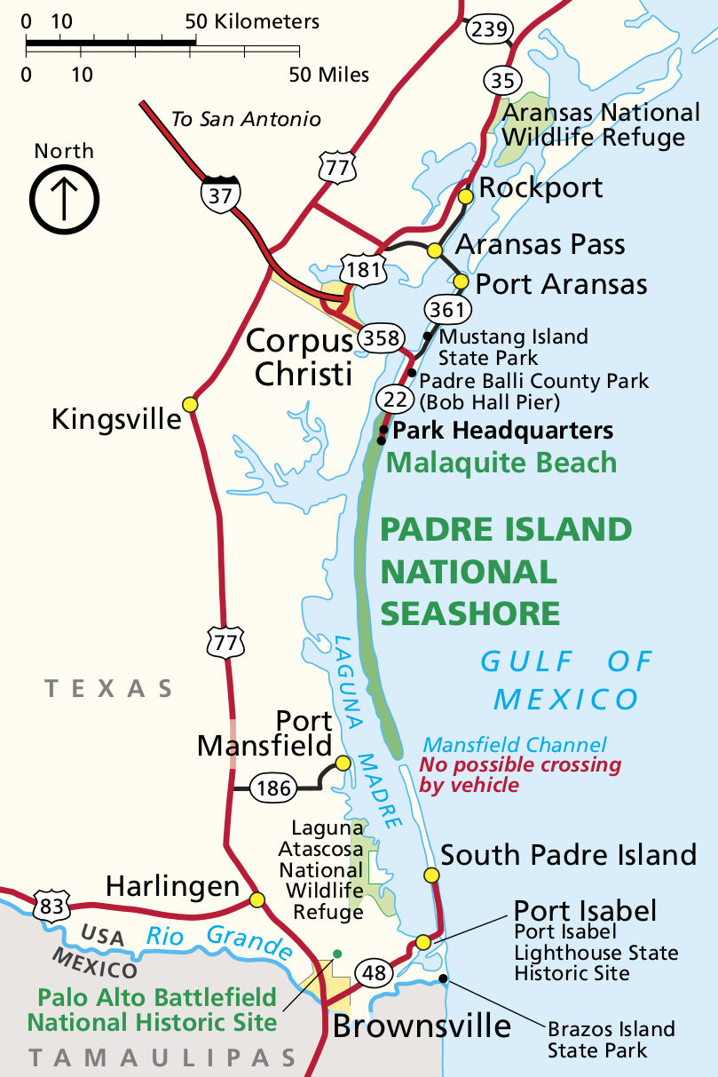 Map South Padre Island Texas Padre Island Maps | NPMaps.  just free maps, period.