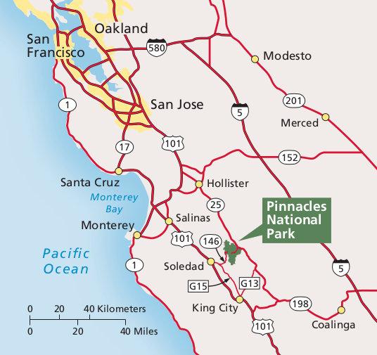 Pinnacles National Park Map Pinnacles Maps | NPMaps.  just free maps, period.