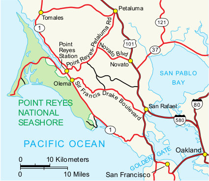 Point Reyes Map Point Reyes Maps | NPMaps.  just free maps, period.