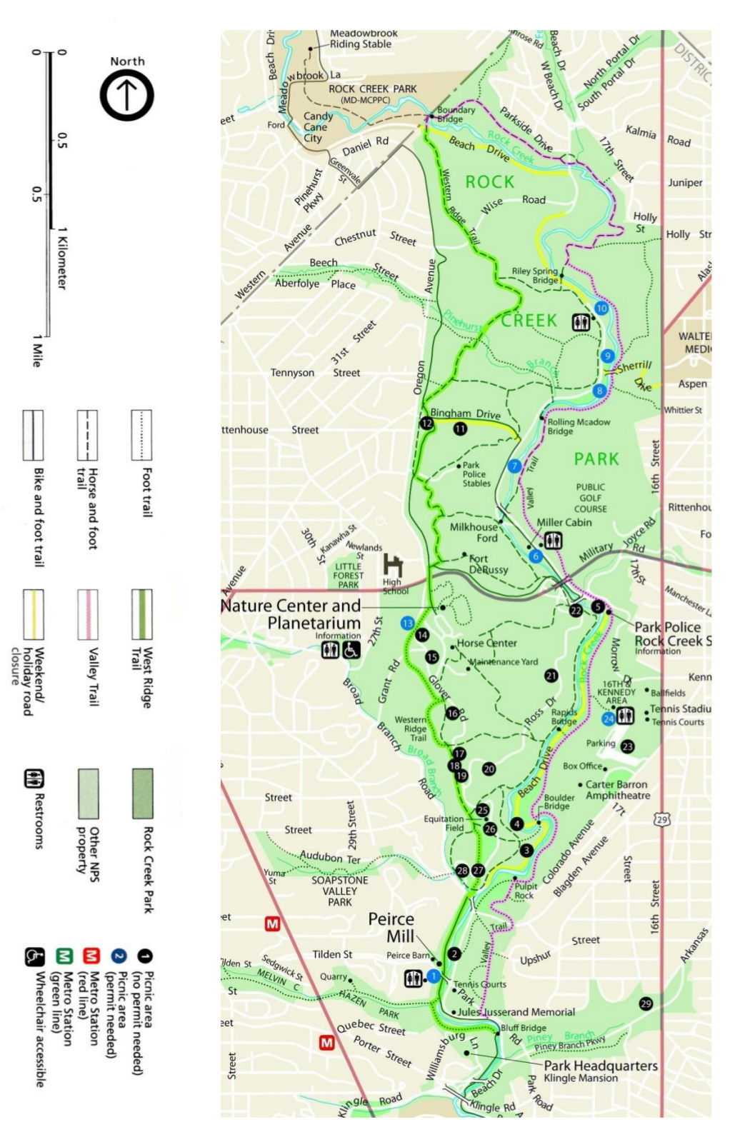 Rock Creek Park Map Rock Creek Maps | NPMaps.  just free maps, period.