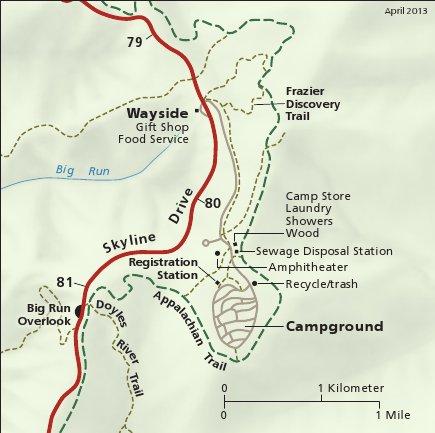 Loft Mountain Campground Map Shenandoah Maps | NPMaps.  just free maps, period. Loft Mountain Campground Map