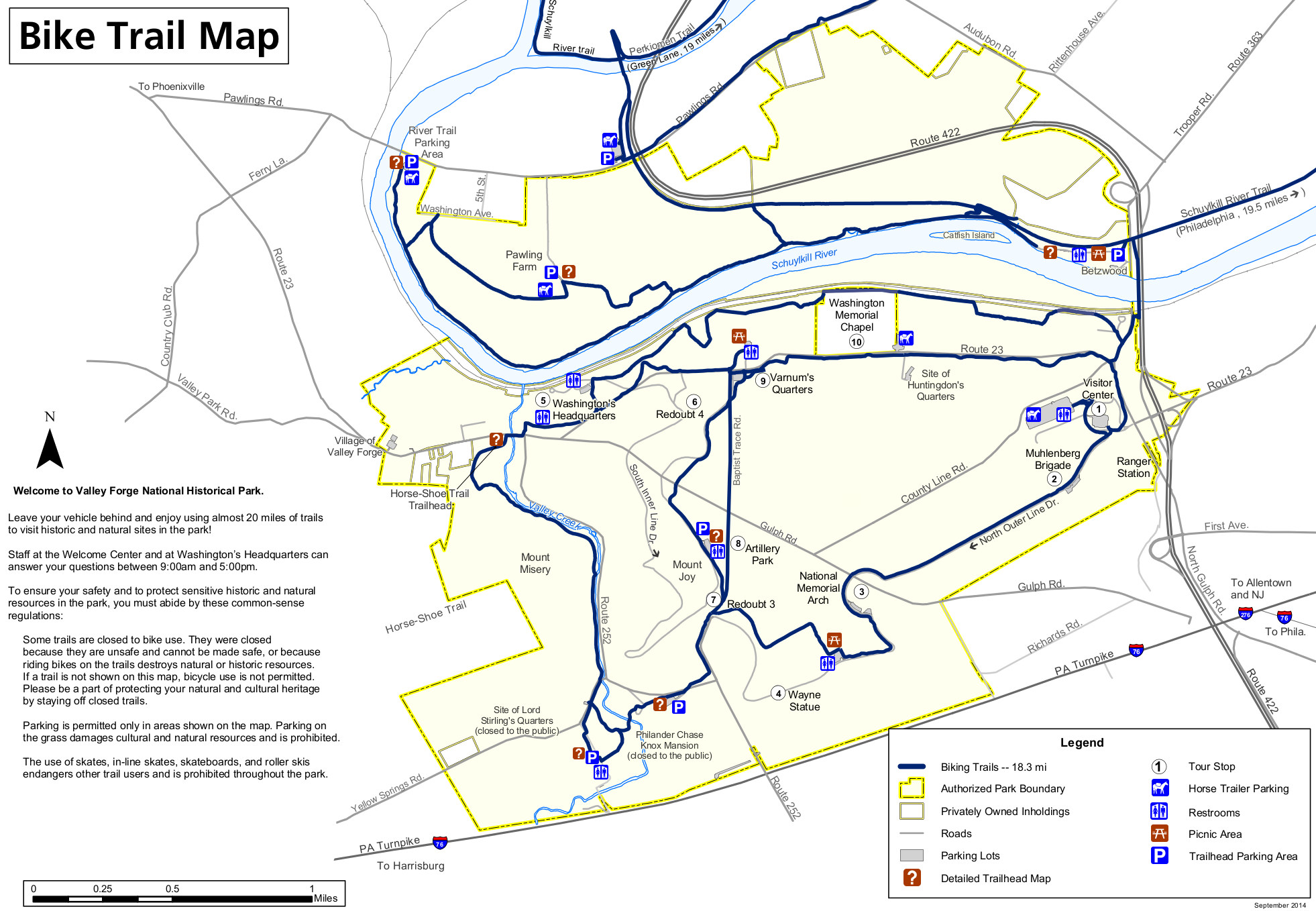 Valley Forge Park Map Valley Forge Maps | NPMaps.  just free maps, period. Valley Forge Park Map