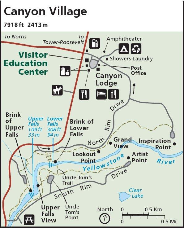Yellowstone Lodging Map Yellowstone Maps | NPMaps.  just free maps, period. Yellowstone Lodging Map