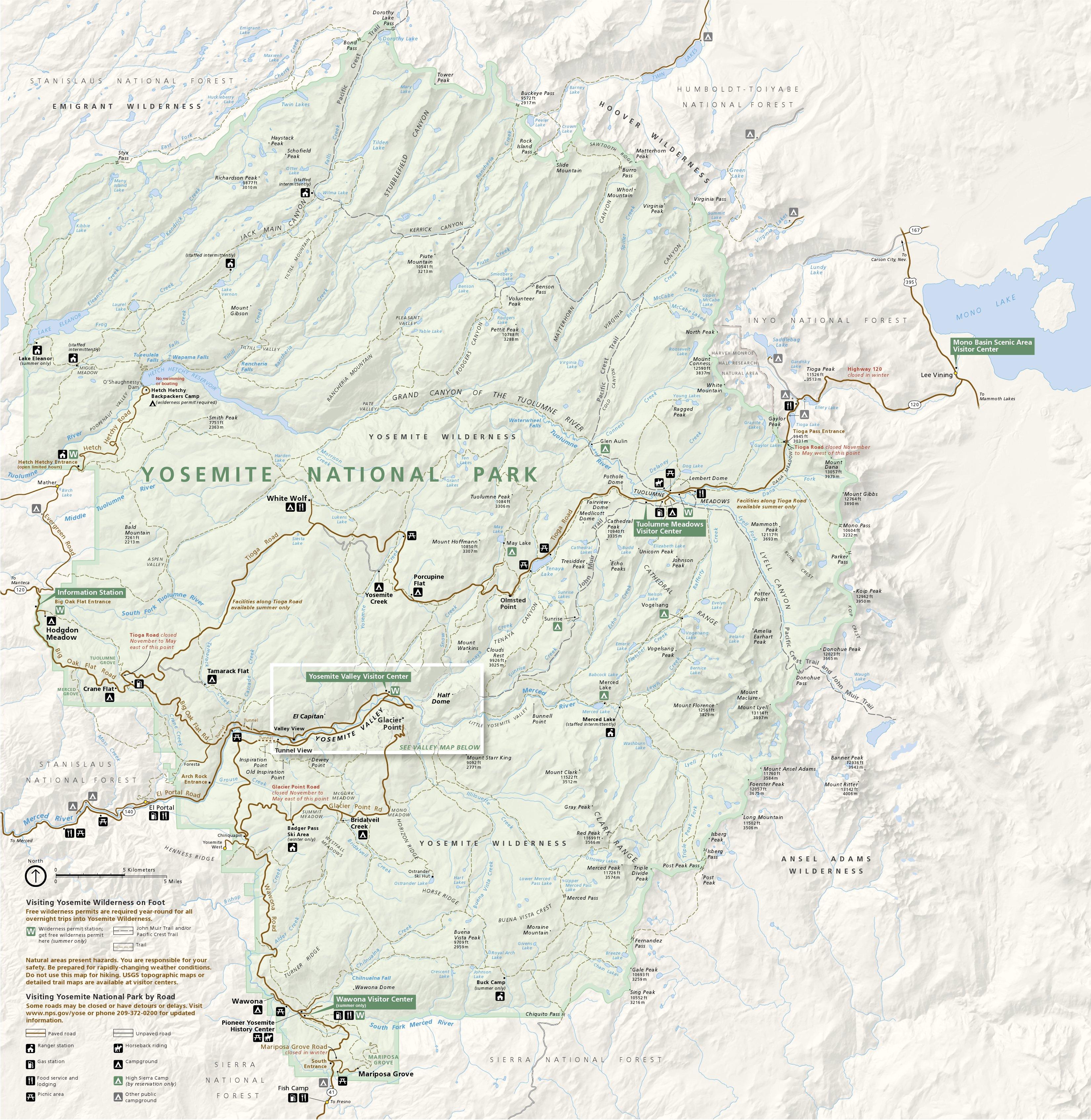 Yosemite Park Map Yosemite Maps | NPMaps.  just free maps, period. Yosemite Park Map