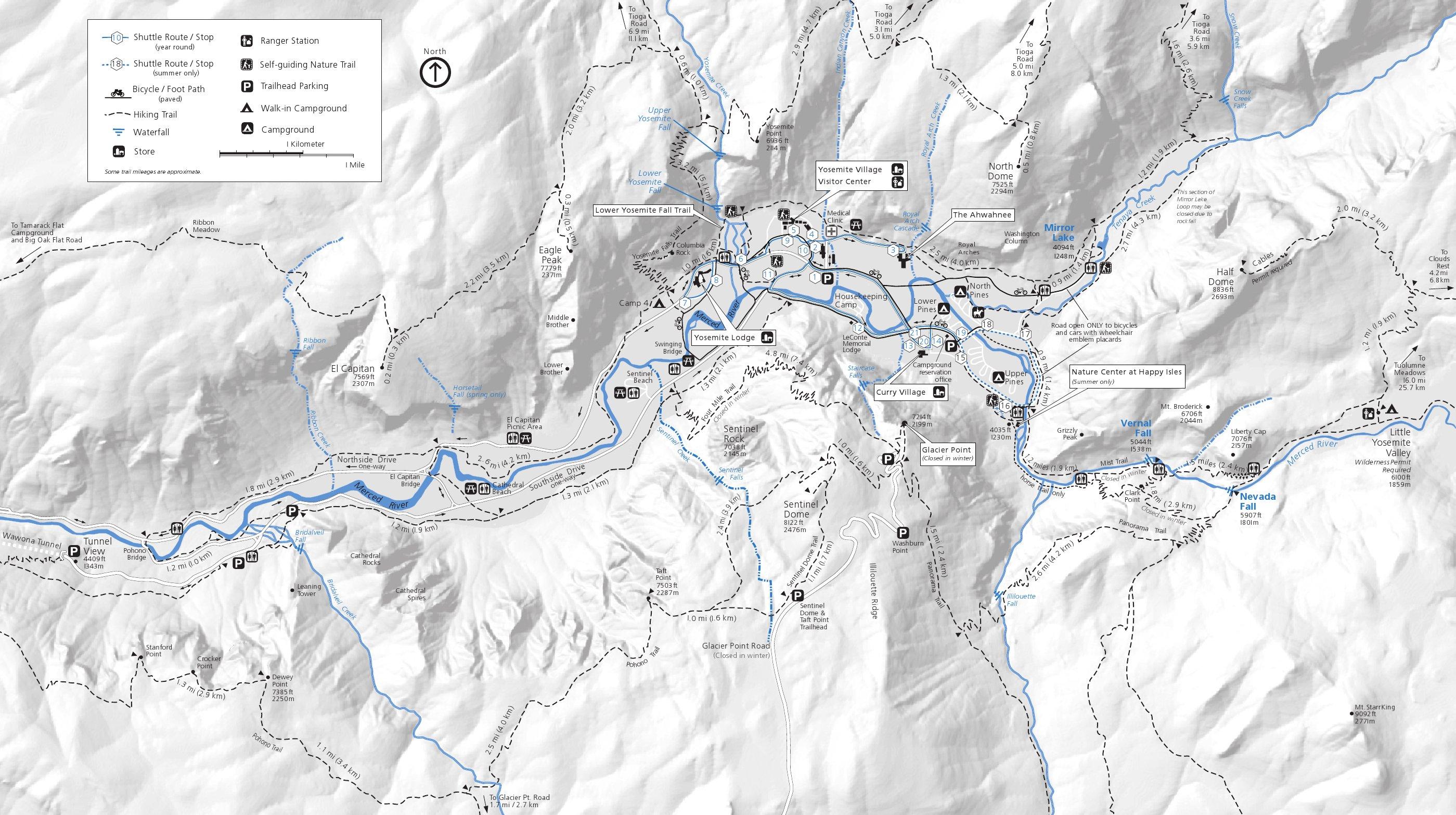 Yosemite Valley Map Yosemite Maps | NPMaps.  just free maps, period. Yosemite Valley Map